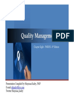 PMBOK - CAP 8 Quality Management