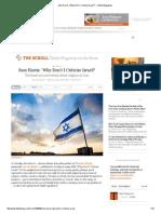 Sam Harris_ 'Why Don't I Criticize Israel_' – Tablet Magazine