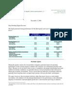 Pershing Square Third Quarter Investor Letter