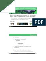 MiraMon y La Calidad de La Información Geográfica