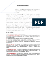 Resumo Rdc 216-2004