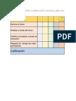 lista de cotejo para evaluar una plenaria
