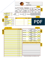 Serenity RPG Ship Sheet (Color) - Editable