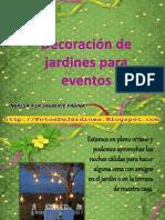 Decoracion de Jardines Para Eventos