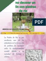 Jardines Decorados Con Piedra Del Rio