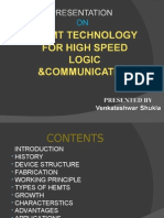 HEMT TECHNOLOGY FOR HIGH SPEED LOGIC &COMMUNICATION