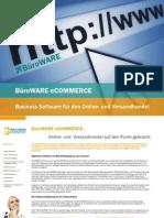 BüroWARE eCOMMERCE Business Software für den Online- und Versandhandel