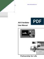 Penlon_avs Ventilator User's Manual