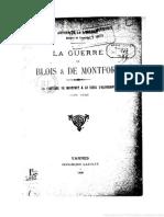La Guerre de Blois Et de Montfort, La Comtesse de Montfort Et Le Siège d'Hennebont (Juin 1342) , Arthur de La Borderie