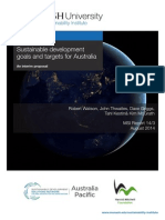 Sustainable development goals and targets for Australia