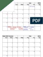 Night Shift Schedule