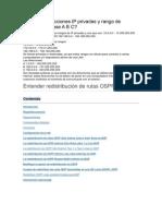 Rango de Direcciones IP Privadas y Rango de Direcciones Clase a B C
