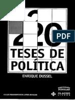 20 Teses de Politica Enrique Dussel