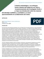 Maestriadicom.org-Claves Para Abordar El Diseo Metodolgico Los Enfoques Metodolgicos Determinan El Diseo Del Trabajo De