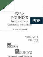 Ezra Pound's Poetry and Prose Vol 1 1902-1914