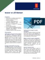 Oil in Water Sensor