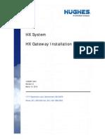 HX System - HX Gateway Installation