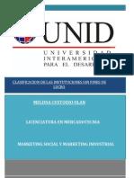 Clasificación de Las Instituciones Sin Fines de Lucro