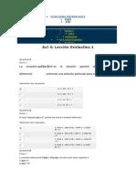 Ecuaciones Diferenciales Act 4