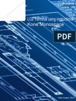 LCE Terminal Using Instructions With Logo KONE