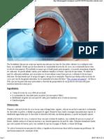 Chocolate Caliente Con Leche de Coco