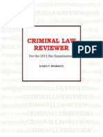 Criminal Law Reviewer by Elmer Brabante