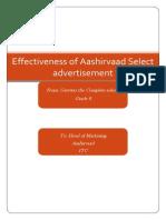 Aashirvaad Select Advertisement