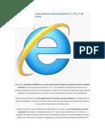 Microsoft Publica Como Eliminar Internet Explorer 9