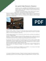 Asamblea Del Ecuador Aprobó Código Monetario y Financiero