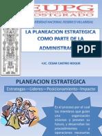 Expo - La Planeacion Estrategica Como Parte de La Administracion