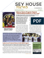 Odyssey House News, Fall 2009 edition
