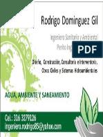Rodrigo Dominguez Gil,  Ingeniero Sanitario y Ambiental