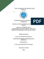 Tesis - Delitos Informaticos en Ecuador y Administracion de Justicia