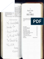 Revelation 22 - Sent to Whitehouse in 2001