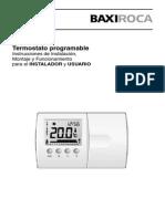 Termostato m. de Instalacion Tx200