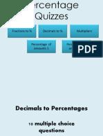 Percentage Quizzes