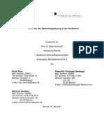 Verfahren der Reihenfolgeplanung in der Produktion- Hausarbeit
