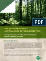 Seguridad Territorial y Acaparamiento de Tierras en El Perú