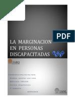 La Marginacion en Personas Discapacitadas