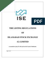 ISE Listing Regulations Compatible