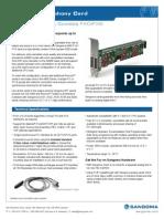 Sangoma A400 Series Analog Voice Card Datasheet