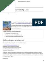 001 Addressing Biodiversity Loss — Global Issues
