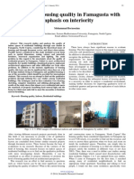 Analysis of Housing Quality in Famagusta With Emphasis on Interiority