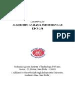 Lab Manual of Aad