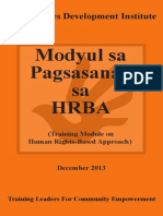 Training Module on Human Rights-Based Approach