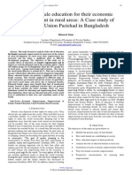 Role of Female Education for Their Economic Empowerment in Rural Areas a Case Study of Jalalabad Union Parishad in Bangladesh