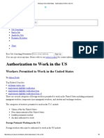 Working in the United States - Authorization to Work in the US