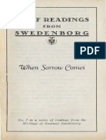 Brief Readings from Swedenborg WHEN SORROW COMES Swedenborg Foundation 1946