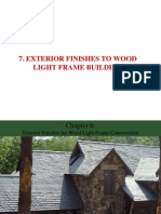 EXTERIOR FINISHES TO WOOD