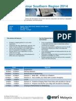 ArcGIS Seminar Southern Region 2014 Agenda